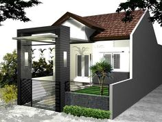 44 Minimalist Home Design Ideas 1 Floor Decoration # Minimalist House Design, Minimalist Home, Shed Plans, House Plans, Build Your House, Narrow House, Building A New Home, Gate Design, Log Homes