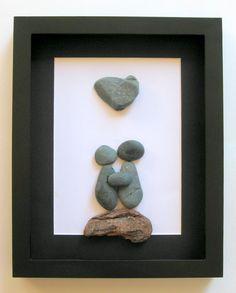 Unique Couple's Gift - Personalized Art Work - Pebble Art - Motivational Home Decor on Etsy, $80.00 CAD