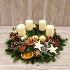 Rose Gold Christmas Decorations, Christmas Advent Wreath, Christmas Candles, Christmas Centerpieces, Rustic Christmas, Xmas Decorations, Winter Christmas, Christmas Time, Christmas Crafts