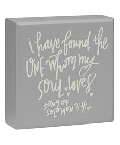 Loving this Collins 'Whom My Soul Loves' Box Sign on Box Signs, Name Signs, Wedding Verses, Our Wedding, Chalkboard Decor, Love Box, Love Deeply, Day Plan, Text Me