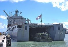 On her way home from Operation LANDSCAPE, Landing Helicopter Dock HMAS Choules stopped off in Townsville and used the newly commissioned Berth 10 to clear customs and quarantine.