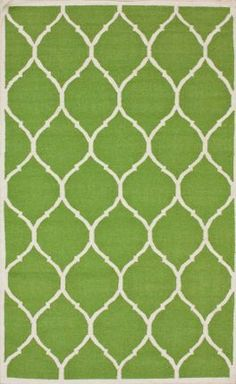 Rugs USA Kilim Trellis Green Rug   Modern, green, home decor, interior design, style, home, house, decor, area rugs, modern, contemporary, pattern.