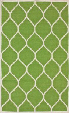 Rugs USA Kilim Trellis Green Rug   Modern, green, home decor, interior design, style, home, house, decor, area rugs, modern, contemporary, pattern.