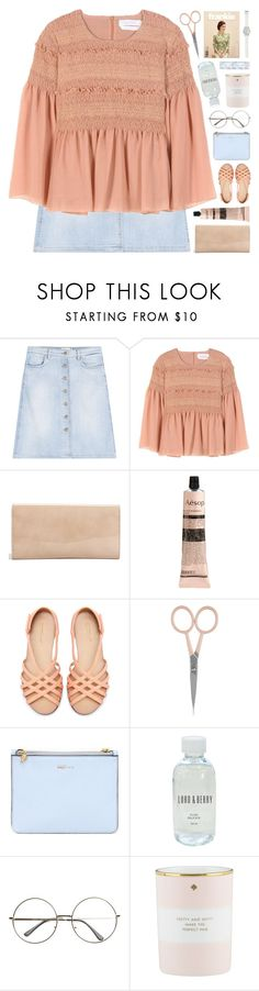 """""""OUTFIT OF THE DAY"""" by emmas-fashion-diary ❤ liked on Polyvore featuring Closed, See by Chloé, Jimmy Choo, Aesop, Zara, Anastasia Beverly Hills, Alexander McQueen, Lord & Berry, Kate Spade and LOFT"""