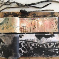 #drawings #handmade #brushes #brunyisland #remembering on the #studiotable #today #farsouthcoastnsw #southeastarts #australianartist