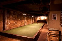 Home Made Bocce Court   They have two indoor bocce ball courts, shuffleboard, darts, pool ...