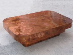 OUTRAGEOUSLY CHIC 70s COPPER TONE FORMICA MILO BAUGHMAN STYLE COFFEE TABLE #MidCenturyModern
