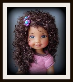 One of a Kind Kelly with wig (OOAK) by Tabloach Productions Barbie Kelly, Barbie And Ken, Doll Wigs, Doll Hair, Little Kelly, Barbie Kids, Afro, Barbie Sisters, Diva Dolls