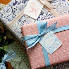 Gorgeous modern gift wrap + letterpress gift tags❣ Bespoke Letterpress