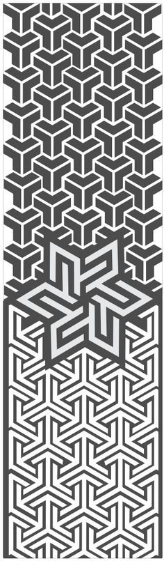 Geometric tesselation, inspiration for a tattoo or interior home ornament…