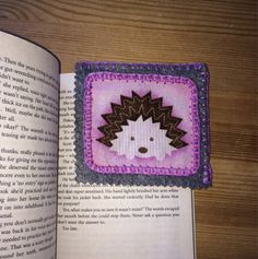 Hedgehog Corner Felt Bookmark by LorraineWilsonDesign on Etsy