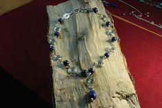 Κολιε απο Συρμα αλπακα με πετρες λαπις λαζουλι - Necklaces wire alpaca – Handmade Greek Jewellery