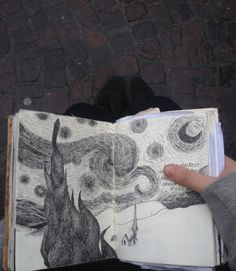 image discovered by Inês Leonor.) your own images and videos on We Heart It Arte Van Gogh, Artist Aesthetic, Arte Sketchbook, Art Diary, Art Hoe, Art Drawings Sketches, Pretty Art, Pencil Art, Art Inspo