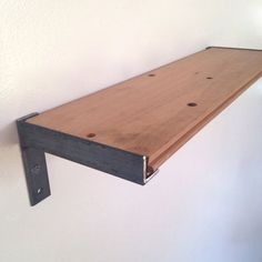 Wall Shelf // Kitchen Shelf // Reclaimed Wood & Steel #shelf #bookshelf #wineshelf