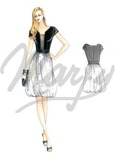The Marfy hand made pre-cut sewing pattern :: Marfy Collection :: Sewing pattern 3931 - Skirt Fashion, Fashion Art, Vintage Fashion, Fashion Outfits, Fashion Design, Fashion Trends, Dress Patterns, Sewing Patterns, Marfy Patterns