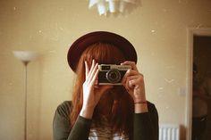 girl vintage camera