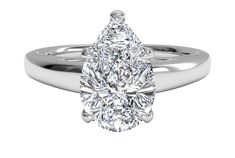 Timeless Engagement Ring, Pear Shaped Engagement Rings, Engagement Ring Shapes, Solitaire Engagement, Diamond Wedding Rings, Solitaire Diamond, Solitaire Rings, Moissanite Rings, Diamond Rings