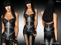 Darken Dreams by Saliwa Corset and Leather Pants - Sims 3 Downloads CC Caboodle