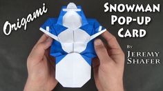 """[High Intermediate] Do you want to build a snowman? You don't even need snow for this one! This model was published in my book """"Origami Pop-ups to Amaze and ..."""