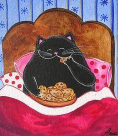Cat and cookies. Annya Djachiachvili