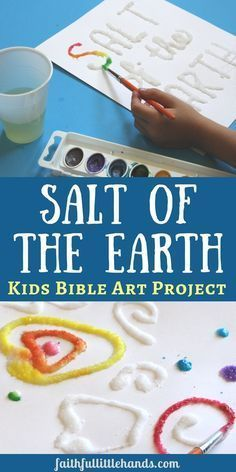 """An awesome art project for a """"salt of the earth"""" Bible lesson. Easily adaptable for kids of any age. Check out our blog for more Bible art and craft ideas."""