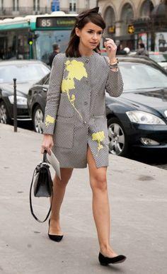 #mira duma with her cute coat and bow again