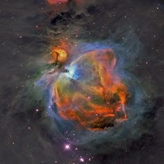The Great Orion Nebula, by Hubble Space Telescope color palette, SII(R ...