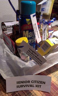 Senior Citizen Survival Kit - Over The Hill Gag Gift: