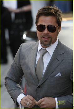 gray texture, looks like carbon fiber.Brad Pitt Brings Basterds To Berlin