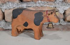 Hey, I found this really awesome Etsy listing at https://www.etsy.com/listing/239321624/vintage-wooden-cow-handmade-custom