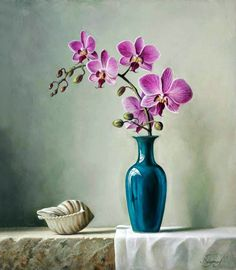 Super flowers painting realistic still life ideas Oil Painting Flowers, Diy Painting, Watercolor Flowers, Flower Paintings, Painting Wallpaper, Art Floral, Flower Oil, Flower Vases, Diy Flowers