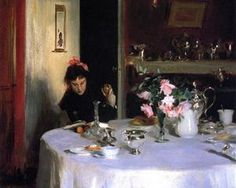 The Breakfast Table  - John Singer Sargent