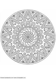 Tribal Shield Mandala Coloring Page By Lois S Mondaymandala