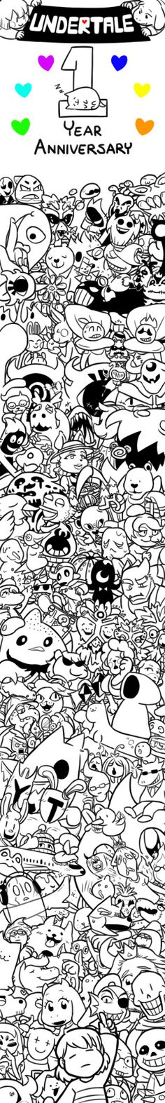 Happy (belated) 1 year anniversary! It's a game that brought a lot of change in my life, so why not show my thanks by drawing every single beloved Undertale characters?