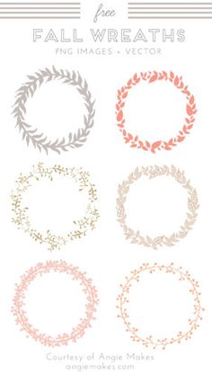 free wreath clip art. Fall Wreath Images and Vector Clip Art | angiemakes.com