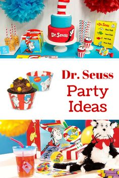Dr. Seuss Party Ideas from Birthday Express - party feature of the month!
