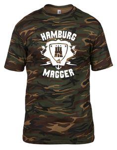 INDIVIDUELLES + COOLES HAMBURG MAGGER FREIZEIT CAMOUFLAGE T-SHIRT FÜR EXPERTEN!!