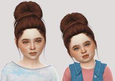 Toddler & Child Nightcrawler Flirt hair conversion for The Sims 4