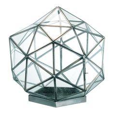 "SHOP :: Barreveld Decorative Glass Geodesic Large Display Box 30112 :: $131.20 | colehawk.com :: [13""sq.] :: Half the price of Restoration's...ya it's not 19"" but same effect. 
