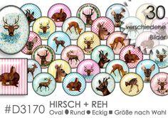 Cabochon+Vorlagen+Cabochonbilder++HIRSCH+++REH+von+Planet+Mallika+auf+DaWanda.com