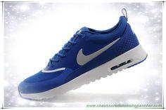 best service 5c122 1fe72 Hommes Nike Air Max Thea Print Sapphire Bleu   Argent   Blanc 599407-401A