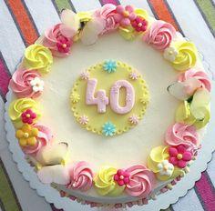 Tarta 40 cumpleaños