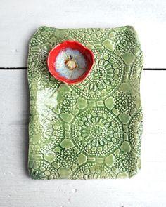 Handbuilt ceramic platter