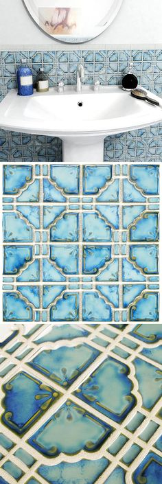 The Moonbeam Diva Blue Porcelain Mosaic Floor and Wall Tile features a unique mosaic composition and a beautiful multi-tonal glaze. With its glossy finish highlights the multiple tones of blue. This tile is suitable for any wall or backsplash, or light-traffic residential floors.