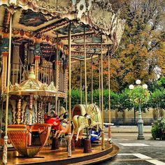 carousel in fontainebleau, france