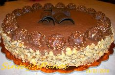 Greek Desserts, Party Desserts, Sweets Cake, Cupcake Cakes, Cheesecake Ferrero Rocher, Sweets Recipes, Cooking Recipes, Eat Dessert First, Cakes And More