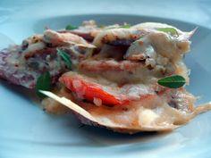 LCHF-bloggen: Falukorvgrateng med tomat og sennep