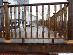 how much for a deck installation Wood Deck Railing, Deck Stairs, Railing Ideas, Deck Framing, Terrasse Design, Design Rustique, Raised Deck, How To Build Steps, Wrap Around Deck