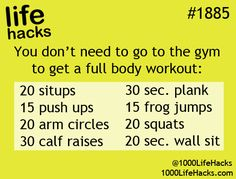 good little at home workout. no excuses -kc