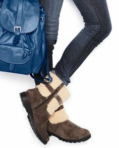 Too expensive! But so Walking Dead.  UGG® Blayre Shearling Cuffed Boots